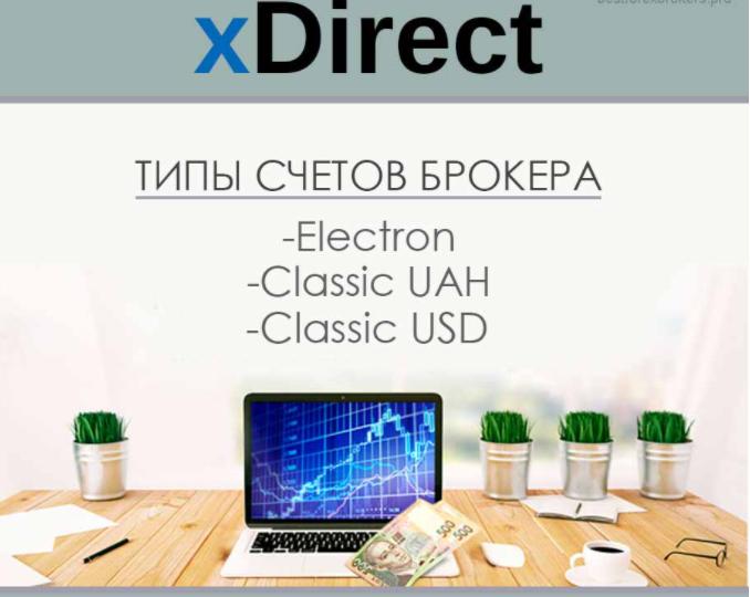 Типы счетов торговой компании xDirect