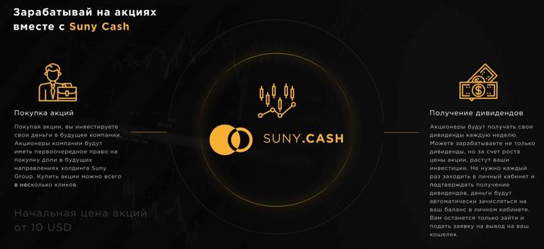 Участие в проекте Suny Cash