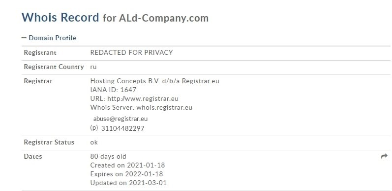 Информация о брокере Ald-company
