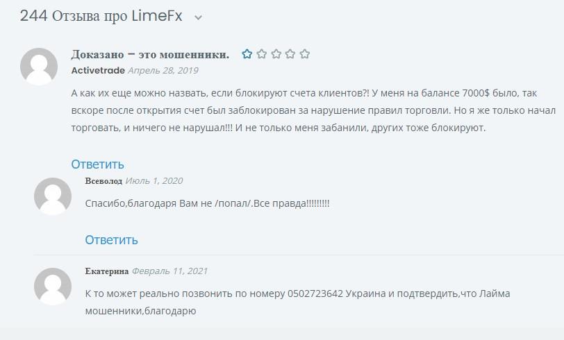 Отзывы о LimeFX